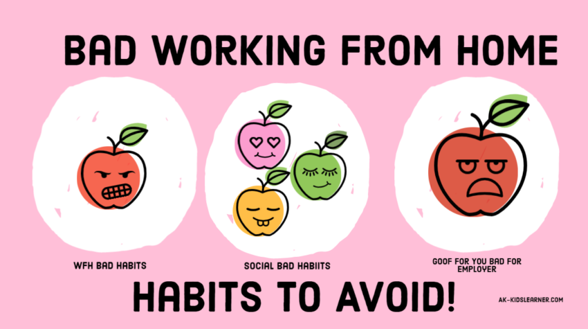28 Bad working from Home Habits to avoid