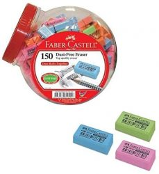Arts & Crafts Tape: Faber Castell 187129 Exhibitor 150 Erasers
