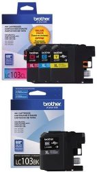 Brother Printer LC1033PKS Ink 3 Pack 1 color each of Cyan