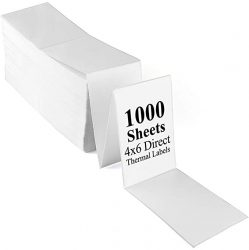 LotFancy Fanfold 4x6 Direct Thermal Shipping Labels1000 L