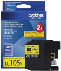 Brother Genuine LC105Y Super High Yield XXL Yellow Ink Cartr