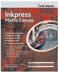 Inkpress Artist's Waterproof Stretchable Canvas Bright Whit