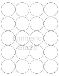 12 Sheets 240 2 INCH Round Circle White Matte Stickers for
