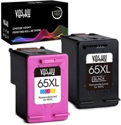 Voshy Remanufactured Ink Cartridges Replacement for HP 65XL