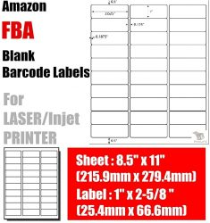 100 Sheets - 3000 Fluorescent FBA and Word Compatible Size A