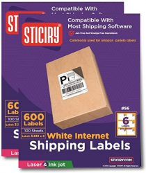 1200 Labels 6up Size 4 x 333 Use with Word Templates Lab