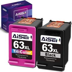 AISEN Remanufactured Ink Cartridge 63 Replacement for HP 63X