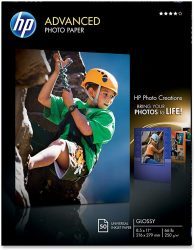 HP Glossy Advanced Photo Paper for Inkjet 85 x 11 Inches