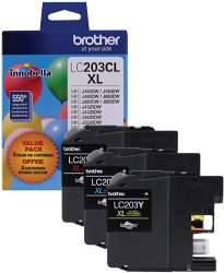 Brother Genuine High Yield Color Ink Cartridge LC2033PKS R