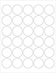 ChromaLabel 1-1-2 Inch Round Printable Labels Compatible wi