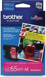 Brother 739095 LC 65 Magenta Ink Cartridge High Yield LC65H