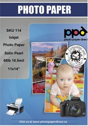 PPD Inkjet Satin Luster Super Premium Photo Paper 11x14'' 68