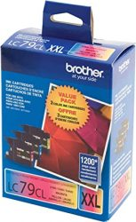 Brother Printer LC793PKS 3 Pack- 1 Each LC79C LC79M LC79Y