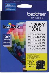 Brother Printer LC205Y Super High Yield Ink Cartridge Yello