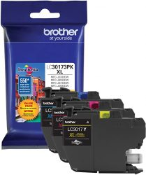 Brother Printer LC30173PK High Yield XL 3 Pack Ink Cartridge