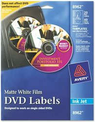 Avery DVD Labels Matte White for Ink Jet Printers 896212