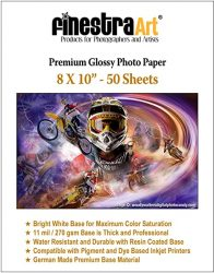 8 X 10 Premium Glossy Inkjet Photo Paper - 50 Sheets Copy