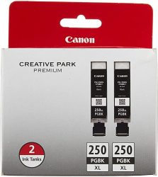 Canon PGI-250XL Black Twin Pack Compatible to MG6320 iP7220
