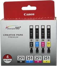 Canon CLI-251 BK-CMY 4PK Compatible to MG6320 iP7220 MG542