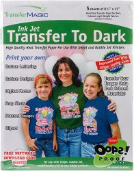 Transfer Magic FXTD-5 Ink Jet Transfer Paper for Dark Fabric